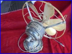 Antique Westinghouse 6 Brass Bladed Fan Runs Needs Restoration Estate Find