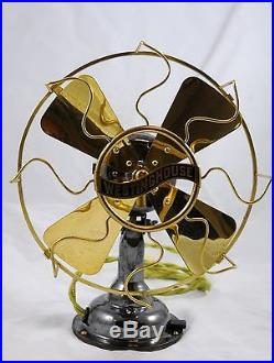 Antique Westinghouse All Brass 8 Electric Fan Nice