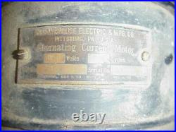 Antique Westinghouse Alternating Current Motor Electric Fan For Parts