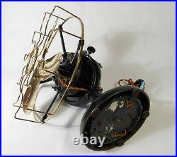 Antique Westinghouse Brass Blade Fan 60677 Tank Restored Nice