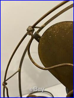Antique Westinghouse Brass Blade Vane Fan