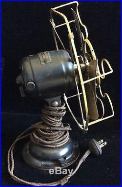 Antique Westinghouse Brass Cage & Blades Works Electric Fan Style 98926B