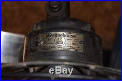 Antique Westinghouse Fan 516860A. Working Condition