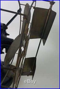 Antique Westinghouse Vane Oscillator Brass Blade Fan 115675 A Vtg USA Tank HTF