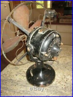 Antique Westinghouse tank fan 80421 brass blades wavy wire 12
