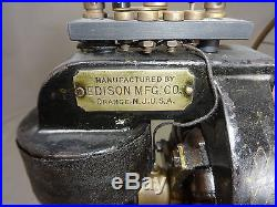 Antique edison fan nice original finish brass 6 blade model ca 1895