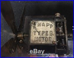 Antique fan Edison type Knapp DC powered fan
