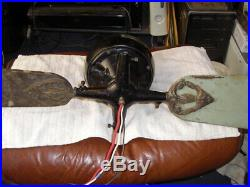 Antique fan Robbins & Myers Style J 110v DC Current Ceiling Fan Very Rare 1920's