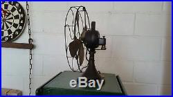 Antique ge brass blade fan