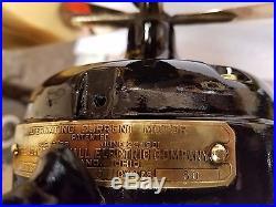 Antique jandus adams bagnell c frame 12 fan brass blade & cage pat 1911