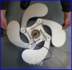 Antique the Mid-west chandelier Co. NORTH KC MO Ceiling Fan Rare! Folding