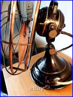 Antique vintage art deco GEC General Electric Company fan