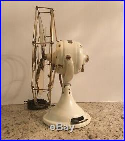 Antique vintage restored 12 GE ELECTRIC FAN brass blade and cage
