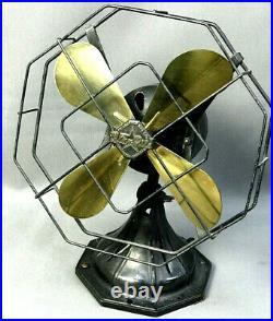 Art Deco Antique Fitzgerald Star-Rite STYLE 832SIM Brass-Blade Fan Parts/Repair