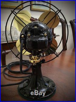 Art Deco Restored Emerson B Junior Antique Oscillating Electric Fan
