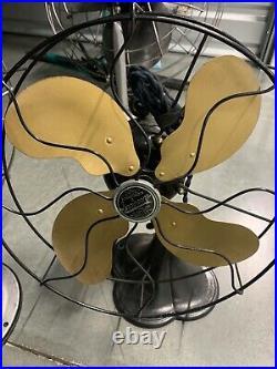 BRASS BLADE ORIGINAL VINTAGE Emerson SEABREEZE Antique Brass Electric Fan 3160