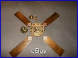 Beautiful Antique Original Brass Westinghouse Sidewinder Ceiling Fan