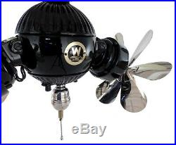 Beautiful Restored Westinghouse Gyro Ceiling Fan Antique Brass Electric
