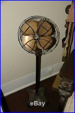 Brass Antique Fan Vintage Brass Rare Emerson Fan 6250 Art
