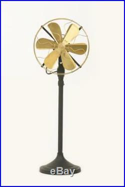 Brass electric fan antique brass fan 12 Blade Orbital Oscillating Floor Stand