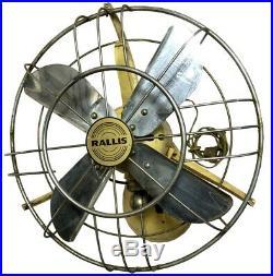 British Oscillating Vintage Original Antique Authentic Rallis Table Fan BF 011