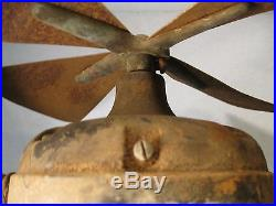 C1900 Patent Adams-Bagnall Wall Desk Ceiling Rare Antique Electric Motor FAN.