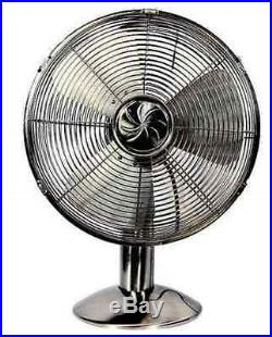 Classic Vintage Antique Retro Variable Speed Oscillating Table Desk Fan