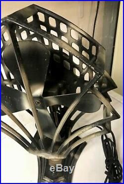 DECO Robbins & Myers R&M Electric FAN Oscillating Antique Vintage 1920s