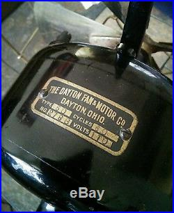 Dayton Type 50 12 brass blade antique electric fan. Tab feet. Runs great