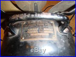 EMERSON 27666 ELECTRIC FAN 6 BLADE ANTIQUE BIG MOTOR RUNS VERY GOOD