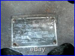 EMERSON ELECTRIC CEILING FAN 4 BLADE WOOD 52 antique vintage works