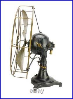 Early 16 Western Electric Ball Motor DC Antique Brass Tripod Base Desk Fan