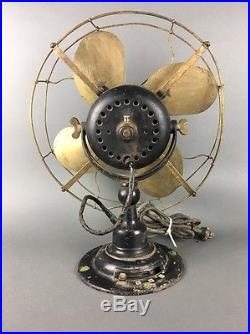 Early Antique 1914 Emerson Brass Parker Blade Fan Type 19648