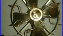 Early Antique Menominee Tab Base Brass Blade Electric Fan Original
