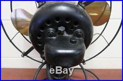 Emerson 12 Electric Desk Fan 3 Speed Oscillating Type 29646 Antique Brass Fan