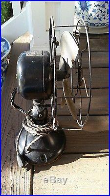 Emerson Antique Fan 9 Brass Blade Model 26645 (1920-22) Needs new cord