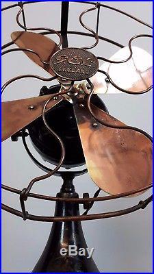 GEC vintage brass electric fan refurbished