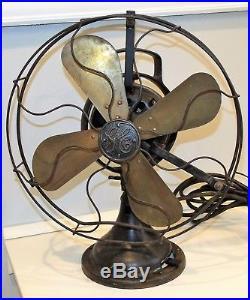 GE General Electric Antique Fan Oscillating Works