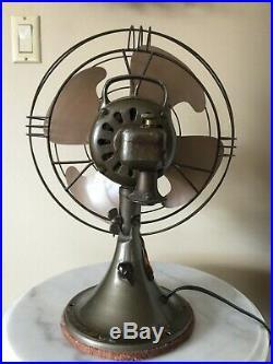 GE General Electric Oscillator Cage Fan Model FM12V1 Antique Vintage Works