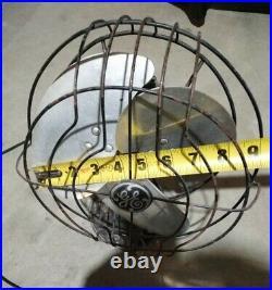 GE General Electric fan 9 antique vintage RUNS! Ready for restoration