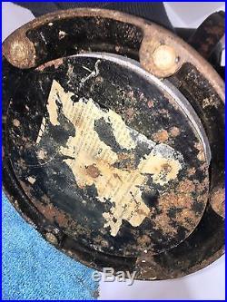 GE Kidney Oscillator Electric Fan Brass, Original Paint, 12 Old Motor Antique