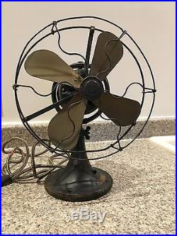 GE Whiz Antique Electric Fan With Brass Blades