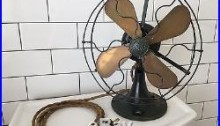 GE Whiz Antique Electric Fan withbrass blades, Incredible Original Condition! Rare