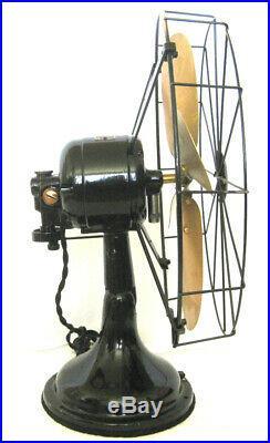 GORGEOUS Restored 1920s Diehl Antique Vintage Electric Fan Runs A+ & Oscillates