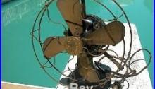 G. E. Tank Fan Antique Patent 1892 Brass Blade
