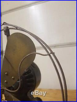 General Electric Antique 5 Cent Coin-op Electric Fan Brass Blades