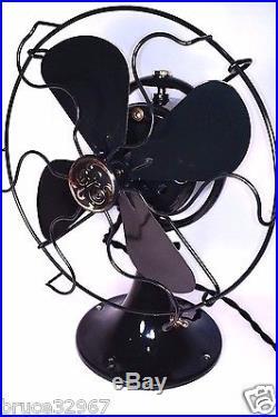 General Electric GE 8 Oscillating Antique Vintage Electric Fan Restored