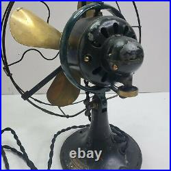 General Electric Whiz 9 Fan GE Vintage Antique Brass Blade Works great