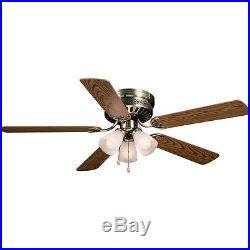 Hardware House Electrical 41-5885 52 Bermuda Ceiling Fan Antique Brass