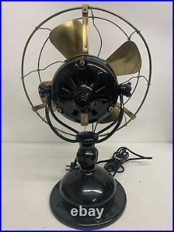 Jandus Antique 12 brass bladed desk fan Beautiful And Working! Adams-Bagnall
